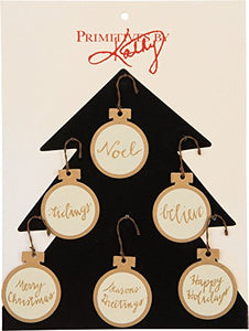 Primitives by Kathy Mini-Ball Christmas Ornaments (Pkg of 6)