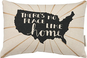 "Primitives by Kathy - Throw Pillow ""There's no place like home"""