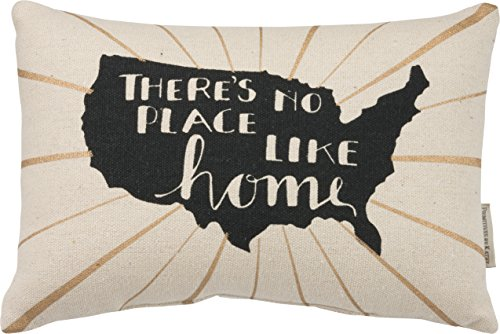 "Primitives by Kathy - Throw Pillow ""There's no place like home"