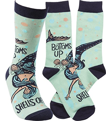 Mermaid Socks Primitives by Kathy Blue, Adult Unisex