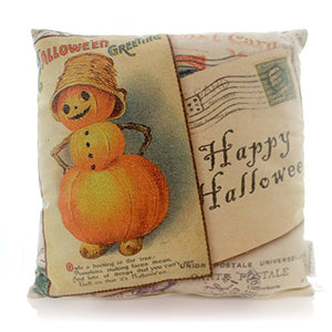 "Primitives by Kathy Vintage Halloween Pillow Jack Pumpkin Collage - 16"" Square"
