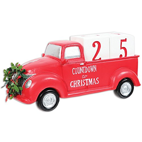 DEI Countdown to Christmas Red Truck Decor