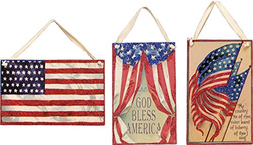 Primitives by Kathy Vintage Patriotic Hanging Card
