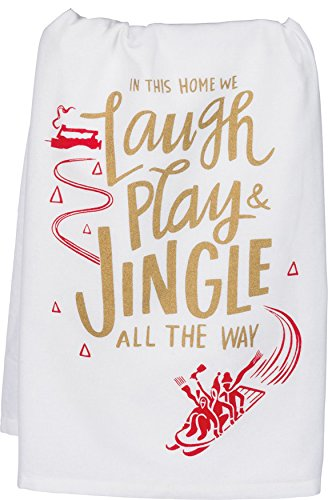 Primitives by Kathy 36934 Christmas LOL Kitchen Dish Towel Set, Jingle All The Way