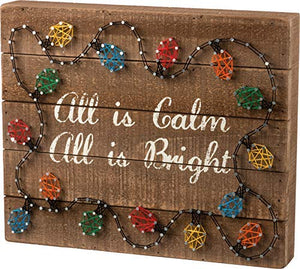 Primitives By Kathy, String Art - All is Bright