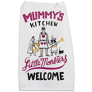 "Mummy's Kitchen Halloween Kitchen Towel 28"" x 28"""