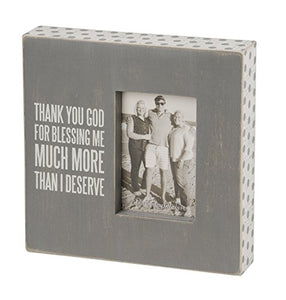 Primitives by Kathy Gray Box Frame, Thank You God, 10 by 10-Inch