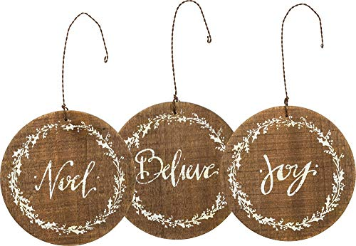 Primitives by Kathy Hand Lettered Oraments, Believe, Joy, Noel
