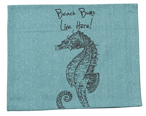 Primitives by Kathy Beach Bums Tea Towel, 15-Inch by 24-Inch, Blue