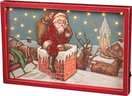 Primitives by Kathy LED Pop Out Box Sign - Santa Size: 20