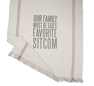 "Throw Blanket - ""Our Family Must Be God's Favorite Sitcom"""
