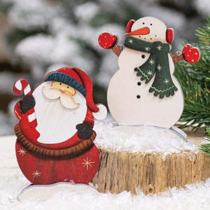 CWI Mini Snowman and Santa Standing