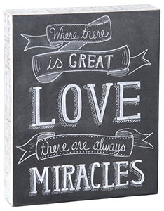 Primitives by Kathy Chalk Sign, 8 by 10-Inch, Great Love