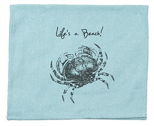 Primitives by Kathy A Beach Tea Towel, 15-Inch by 24-Inch, Blue