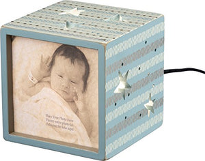 "Primitives by Kathy Lighted Block Blue Size: 5"" Square, Fits 4"" Square Photo"