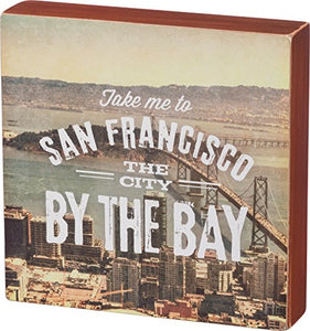 Primitives By Kathy San Francisco City Wood Box Sign 8 x 8 x 1.5 inches