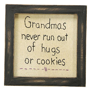 Primitives by Kathy Grandmas Never Run Out of Hugs Stitchery