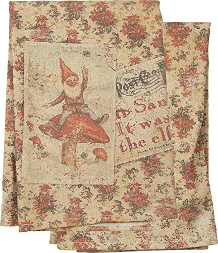 Dear Santa It Was The Elf Dish Towel by Primitives by Kathy 26