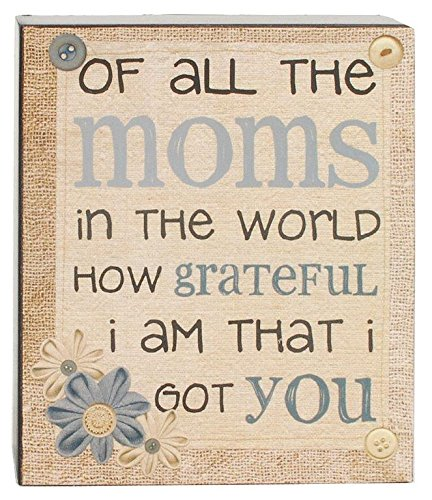 Blossom Bucket Moms Grateful Wall Box Sign