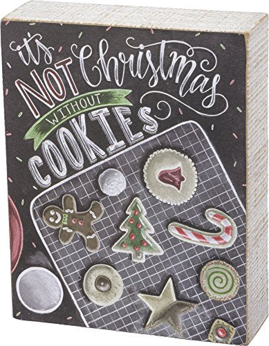 Primitives by Kathy Chalk Sign - Christmas Cookie Size: 5.50