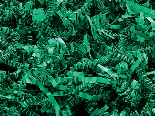 1/2 LB Crinkle Cut Paper Shred, Green