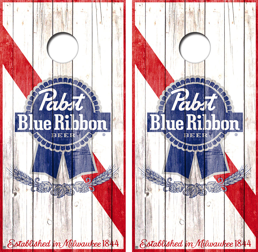 Pabst Blue Ribbon Beer Can Design UV Direct Print Cornhole