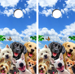 Puppies Galore Design UV Direct Print Cornhole