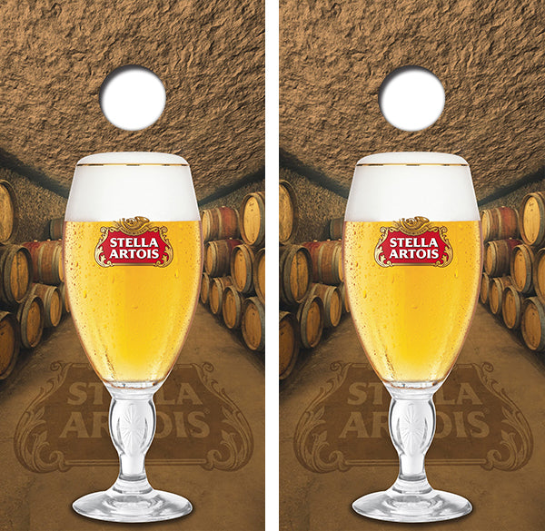 Stella Artois Beer Design UV Direct Print Cornhole