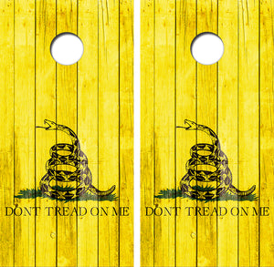 Don't Tread on Me Design UV Direct Print Cornhole