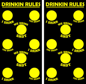 Drinkin Rules Design UV Direct Print Cornhole