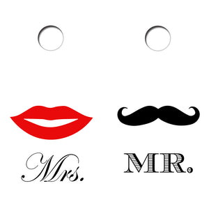 Mrs and Mr Design UV Direct Print Cornhole