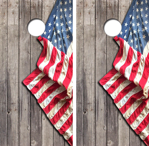 American Flag Design UV Direct Print Cornhole
