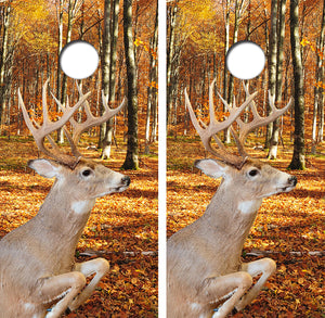 Whitetail Deer Hunting Design UV Direct Print Cornhole