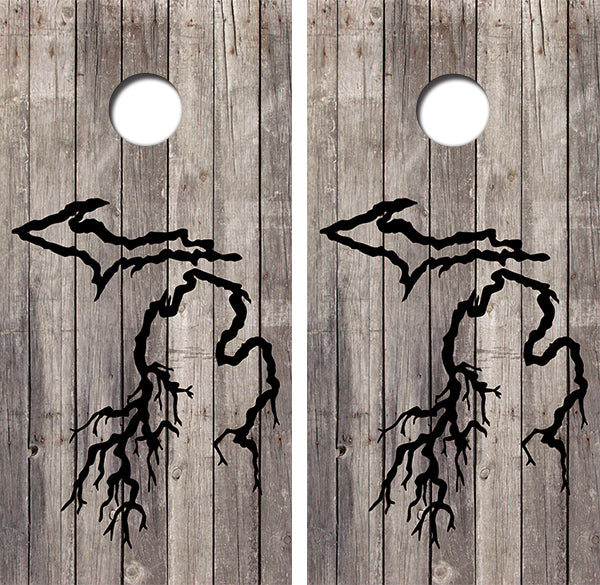 Michigan Roots Design UV Direct Print Cornhole