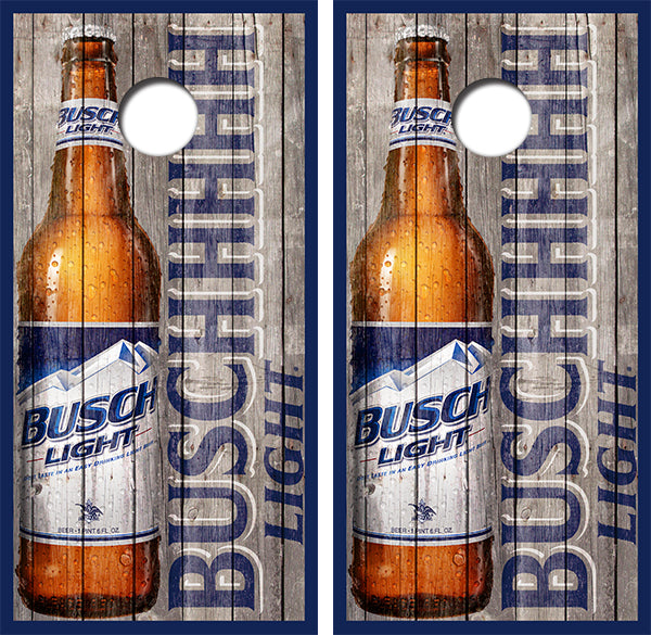 Busch Light Beer Bottle Design UV Direct Print Cornhole