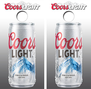 Coors Light Beer Can Design UV Direct Print Cornhole