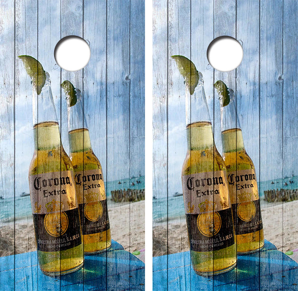 Corona Extra Beer Bottles Design UV Direct Print Cornhole