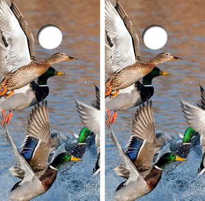 Flying Mallard Ducks Design UV Direct Print Cornhole