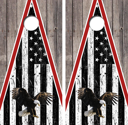 American Flag Eagle Design UV Direct Print Cornhole