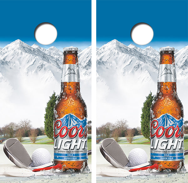 Coors Light Golf Design UV Direct Print Cornhole