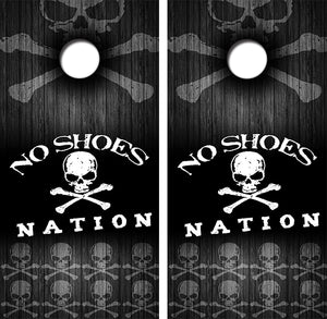 No Shoes Nation Design UV Direct Print Cornhole