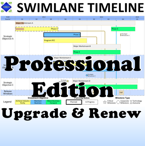 Swimlane Timeline Professional Edition Upgrade & Renewal (2 Add'l Years)