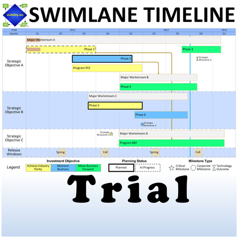 Swimlane Timeline 30-Day TRIAL for Visio 2010-2016