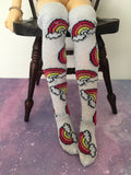 Silver Rainbow BJD Socks