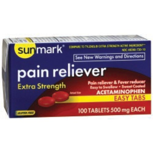 Pain reliever/fever reducer sunmark® Acetaminophen, 1/BT