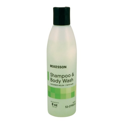 McKesson Shampoo and Body Wash 8 oz. Squeeze Bottle, 48/CS