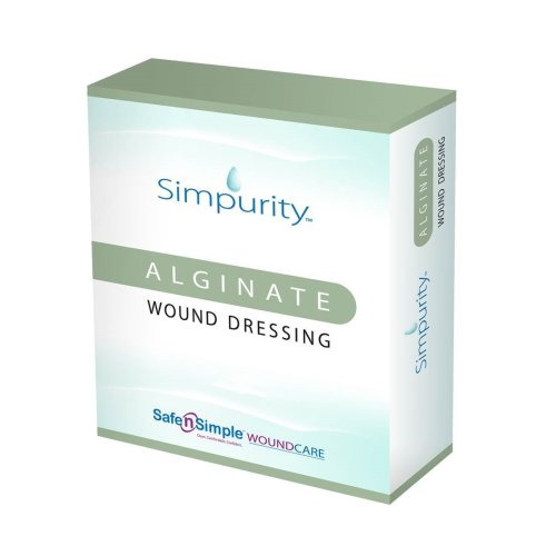 Simpurity™ Alginate Dressing, 2 x 2 Inch, 1/EA