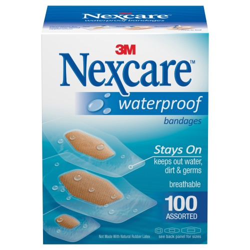 Nexcare™ Waterproof Assorted Bandage, 100/BX
