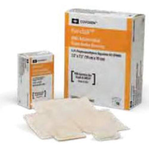Kendall™ AMD Antimicrobial Foam Dressing, 1¾ x 3¼ Inch, 10/BX