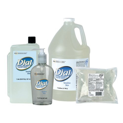 Dial® Sensitive Antimicrobial Soap 1 Liter Refill Bottle, 8/CS